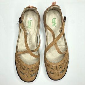 NWT JAMBU Blossom Encore Flat Tan Size 11